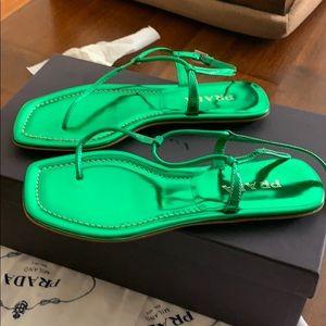 Authentic Prada Brand New T-Strap Sandals